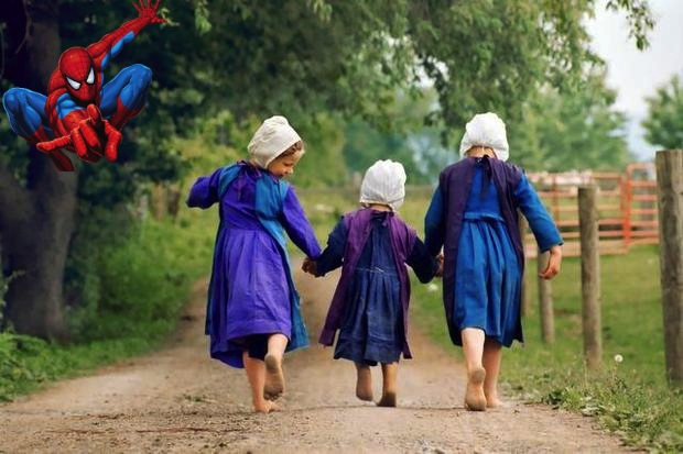 three-amish-girls