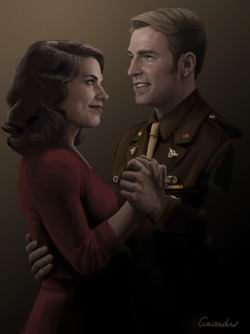 Source: http://rebloggy.com/post/fanart-captain-america-chris-evans-steve-rogers-avengers-hayley-atwell-peggy-car/122006814712